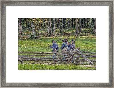 The Road To Gettysburg Framed Print by Randy Steele