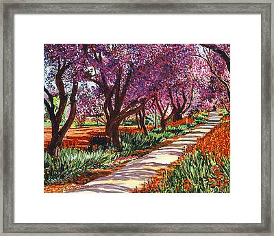 The Road To Giverny Framed Print by David Lloyd Glover