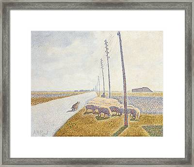 The Road To Nieuport Framed Print by Willy Finch