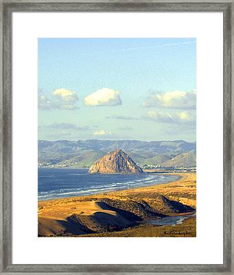 The Rock At Morro Bay Framed Print by Barbara Snyder