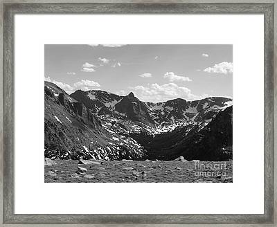 The Rockies Monochrome Framed Print by Barbara Bardzik