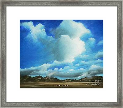 The Rockies Framed Print by Susi Galloway