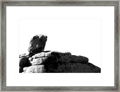 The Rocks Of Contrast Framed Print by Carolina Liechtenstein