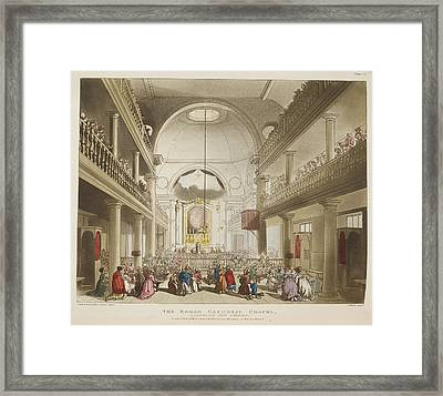 The Roman Catholic Chapel Framed Print by British Library