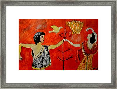 The Roman Painting Framed Print by Daniele Fedi
