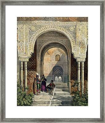 The Room Of The Two Sisters Framed Print by Leon Auguste Asselineau