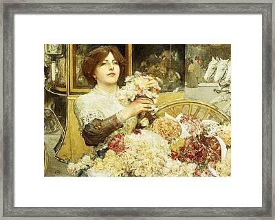 The Rose Girl Framed Print by Childe Hassam