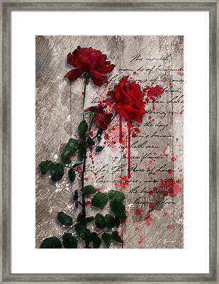 The Rose Of Sharon Framed Print by Gary Bodnar