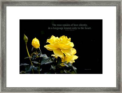 The Rose Speaks Of Love Framed Print by Thomas Woolworth