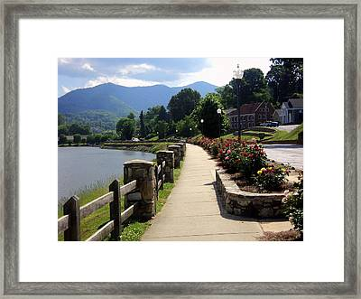 The Rose Walk Framed Print by Paula Tohline Calhoun