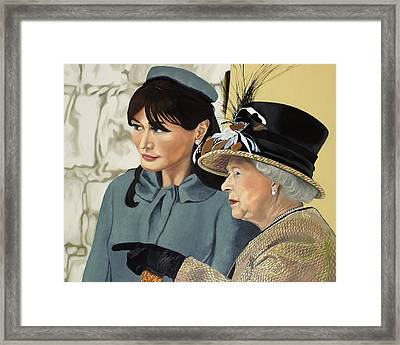 The Royal Burger Framed Print by Marcella Lassen