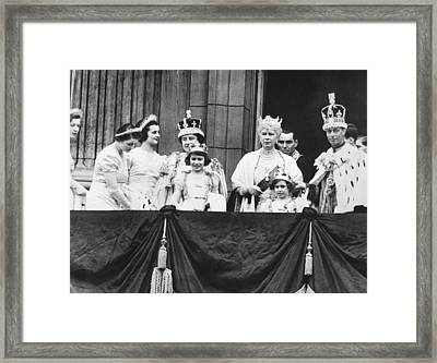 The Royal Family Framed Print by Underwood Archives
