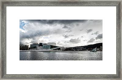 The Royal National Opera House In Oslo Norway Framed Print by Frank Bach