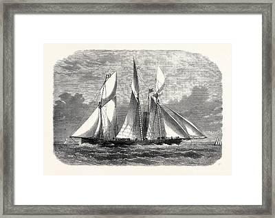 The Royal Thames Yacht Club Schooner Match The Xantha Framed Print by English School