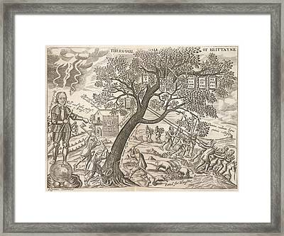The Royall Oake Of Brittayne Framed Print by British Library