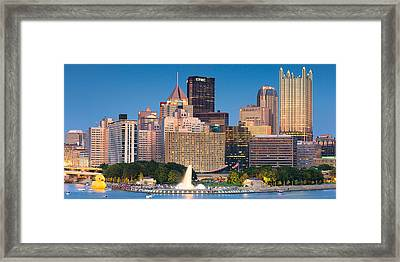 The Rubber Duck Project  In Pittsburgh  Framed Print by Emmanuel Panagiotakis