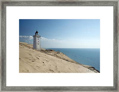 The Rubjerg Lighthouse Framed Print by Robert Lacy