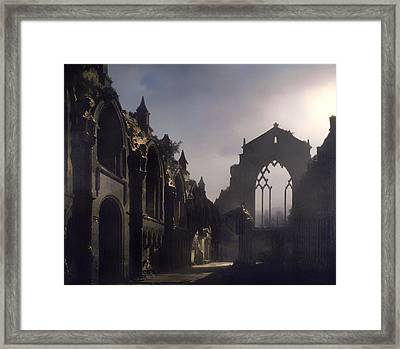 The Ruins Of Holyrood Chapel Framed Print by Mountain Dreams