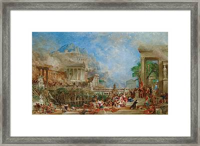 The Sack Of Corinth Framed Print by Thomas Allom