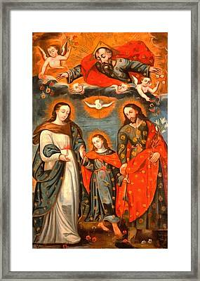 The Sacred Family Framed Print by Unknown