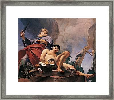 The Sacrifice Of Isaac Framed Print by Giovanni Battista Tiepolo