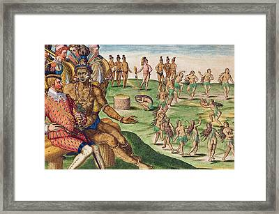 The Sacrifice Of The First-born Son Framed Print by Jacques Le Moyne