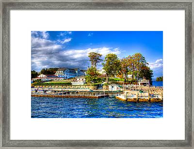 The Sagamore Hotel On Lake George Framed Print by David Patterson