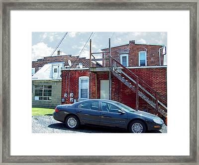 The Salesman At Home Framed Print by MJ Olsen