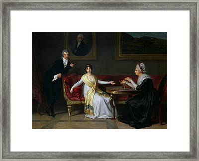 The Salucci Family Framed Print by Louis Gauffier