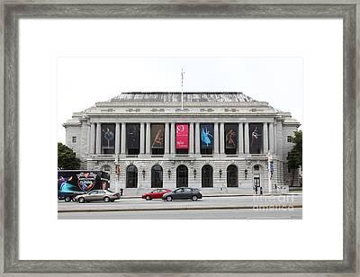 The San Francisco War Memorial Opera House - San Francisco Ballet 5d22478 Framed Print by Wingsdomain Art and Photography