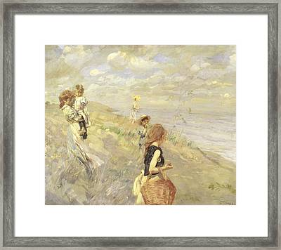 The Sand Dunes Framed Print by Ettore Tito