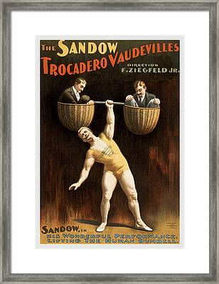 The Sandow Framed Print by Aged Pixel