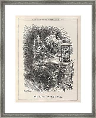The Sands Running Out Framed Print by British Library