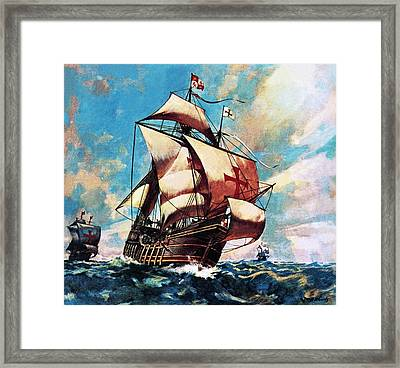 The Santa Maria Framed Print by James Edwin McConnell