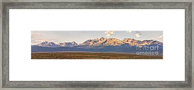 The Sawtooths' Framed Print by Robert Bales