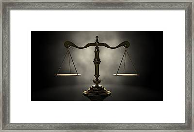 The Scales Of Justice Framed Print by Allan Swart