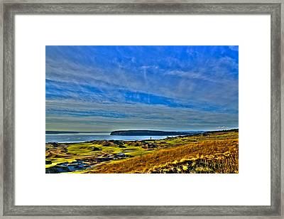 The Scenic Chambers Bay Golf Course II - Location Of The 2015 U.s. Open Tournament Framed Print by David Patterson
