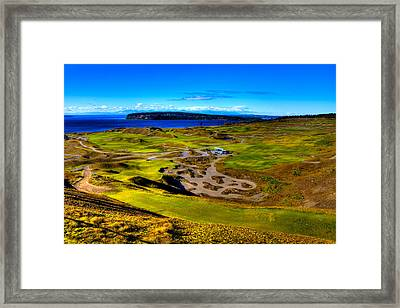 The Scenic Chambers Bay Golf Course IIi - Location Of The 2015 U.s. Open Tournament Framed Print by David Patterson