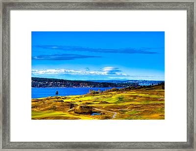 The Scenic Chambers Bay Golf Course Iv - Location Of The 2015 U.s. Open Tournament Framed Print by David Patterson