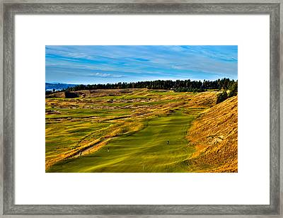 The Scenic Chambers Bay Golf Course V - Location Of The 2015 U.s. Open Tournament Framed Print by David Patterson