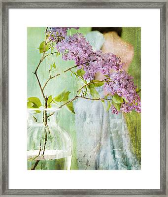 The Scent Of Lilacs Framed Print by Theresa Tahara
