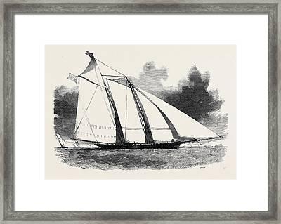 The Schooner Yacht  America Framed Print by English School