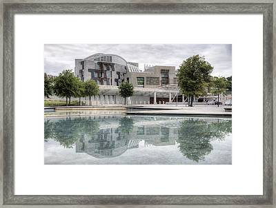 The Scottish Parliament Framed Print by Ross G Strachan