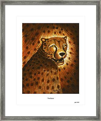 The Scout Framed Print by Jonas Jeque