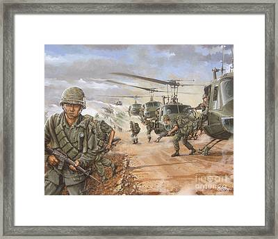 The Screaming Eagles In Vietnam Framed Print by Bob  George