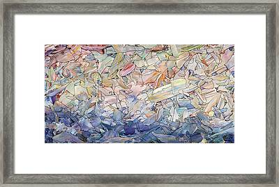 Fragmented Sea Framed Print by James W Johnson
