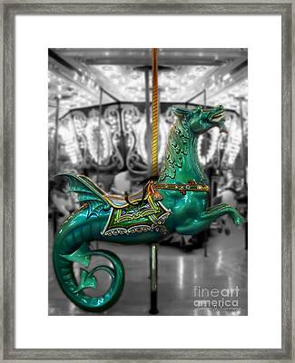 The Sea Dragon - Carousel Framed Print by Colleen Kammerer