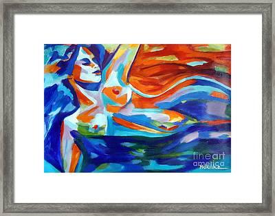 The Sea Of Life Framed Print by Helena Wierzbicki