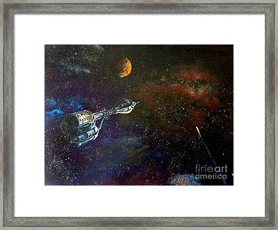The Search For Earth Framed Print by Murphy Elliott