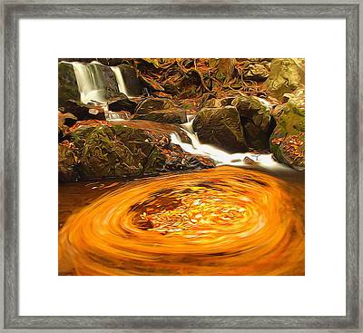The Season Of Autumn Framed Print by Dan Sproul